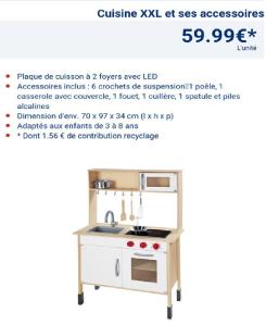 Bon plan lidl jeux en bois petit prix mamounepower for Cuisine bois lidl